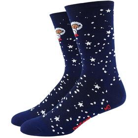 "DeFeet Aireator 6"" Socks Doggo (Navy w/Dog in Spacesuit)"